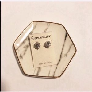 New with tags Francescas bling stud earrings
